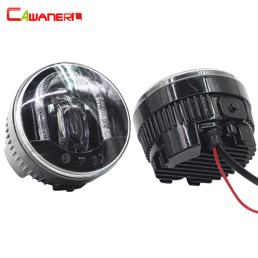 Cawanerl For Peugeot 307 207 Car Styling LED Fog Light Daytime Running Lamp DRL 12V 2 Pieces cawanerl 2 x car led daytime running light drl fog lamp 12v dc car styling high quality for ford ranger 2012 2015