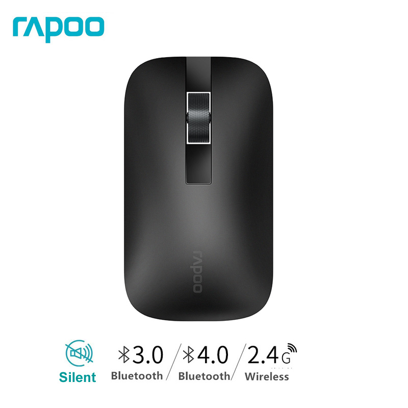Rapoo M550 Slim Multi Mode Bluetooth 3.0/4.0 2.4G Wireless Mouse Office Home Computer Use Silent Mice Can Be Connected 3 Devices
