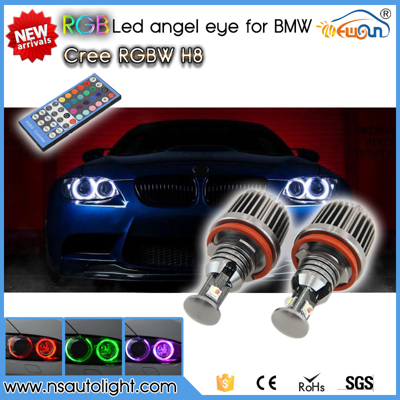 Original Designer colors changing IR control rgb led angel eye for bmw e92 E60 E82 E87 E89 Z4 E70 X5 E71 X6 E82 E87 E89 ir 92 2016 rxdz