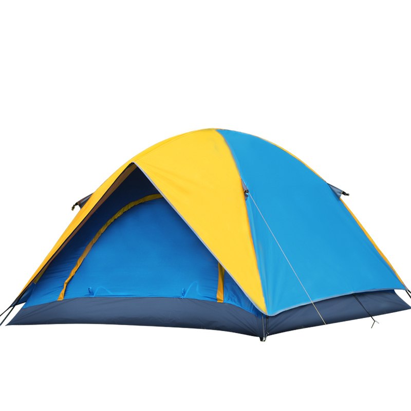 Ultralight Portable Outdoor Large Camping Tent Waterproof Beach Folding Double Layer Canvas Hunting Fishing Gazebo Tente LY10 outdoor camping hiking automatic camping tent 4person double layer family tent sun shelter gazebo beach tent awning tourist tent