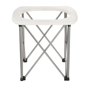 Image 4 - Inodoro plegable portátil para exteriores, silla para asiento de inodoro ligera y cómoda para acampar, senderismo, Kits de viaje para exteriores