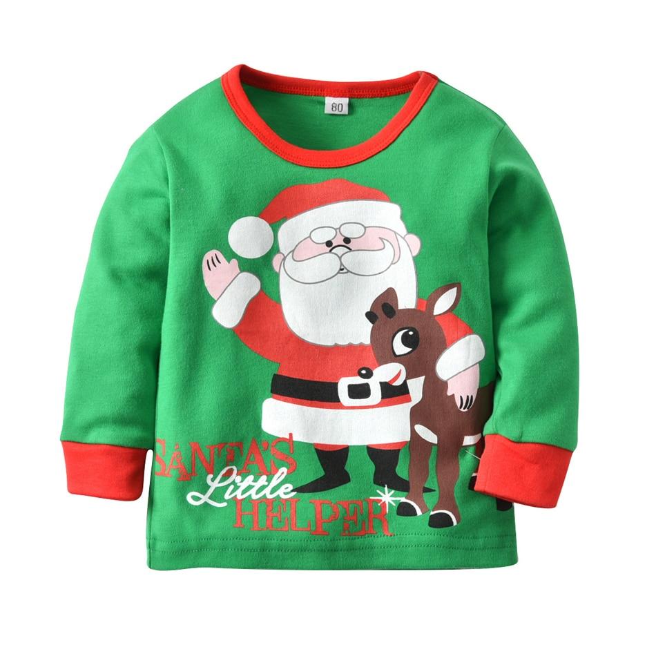 ZMHYAOKE 2018 New Winter Baby Clothes Pyjamas Sets Christmas Santa ... ef449fc11