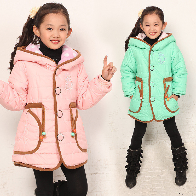Free shipping Winter new girl leisure single-breasted hooded heavy cotton quilted coat free shipping boruoss 2015 new fashion winter cotton coat women short single breasted coat boruoss w1292