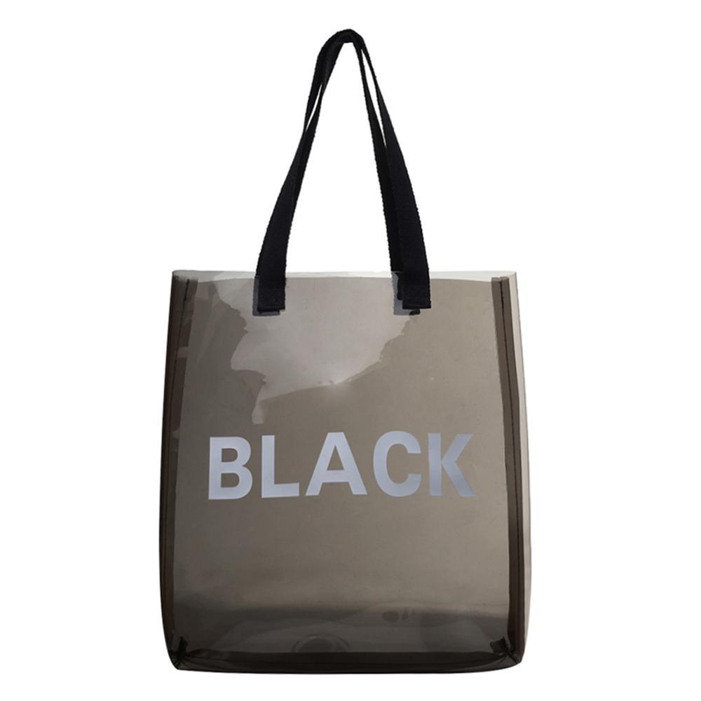 Transparent Jelly Bags PVC Shopping Totes Women Shoulder Bag Beach Travel Handbags Sac A Dos Bolsas Feminina Mujer Sac A Main
