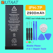цена на Giutaat Battery for Apple iphone 7 Plus Mobile Phone 2900mAh Lithium Polymer Batteries Free Tools Kit