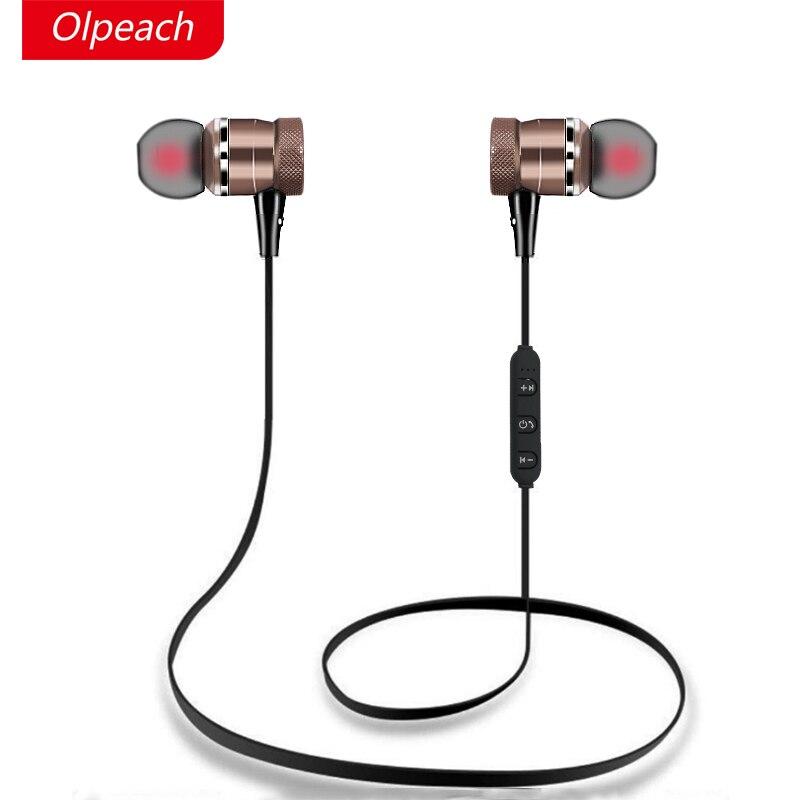 bilder für OLPEACH S6-2 Bluetooth Kopfhörer Mit Mic Wireless H 6 Kopfhörer Sport Lauf Bluetooth Headsets Für iPhone Xiaomi Android Magnet