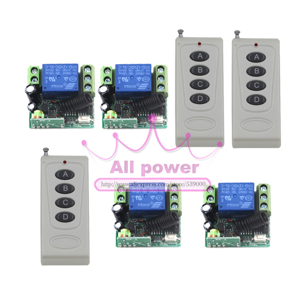12V 1CH 10A Wireless Remote Control Switch Fixed Code 315mhz/433mhz Receiver For Applicance Garage Door