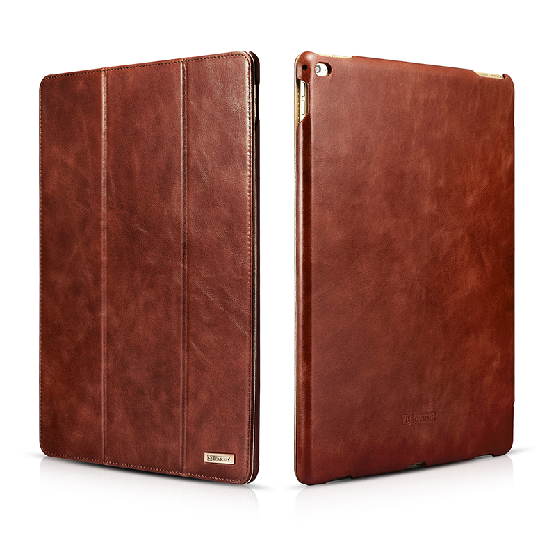For iPad Pro Cases Luxury Genuine Leather Business Cover for iPad Pro Brand New Protective Back Fundas for iPad Pro 12.9 inch
