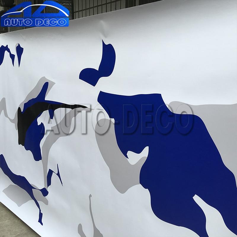 JUMBO Blue Black White Camouflage Vinyl Car Wrap Camo Film Sheet Adhesive size:1.52*3m/5m/15m шлем tech team plasma 550 m blue white