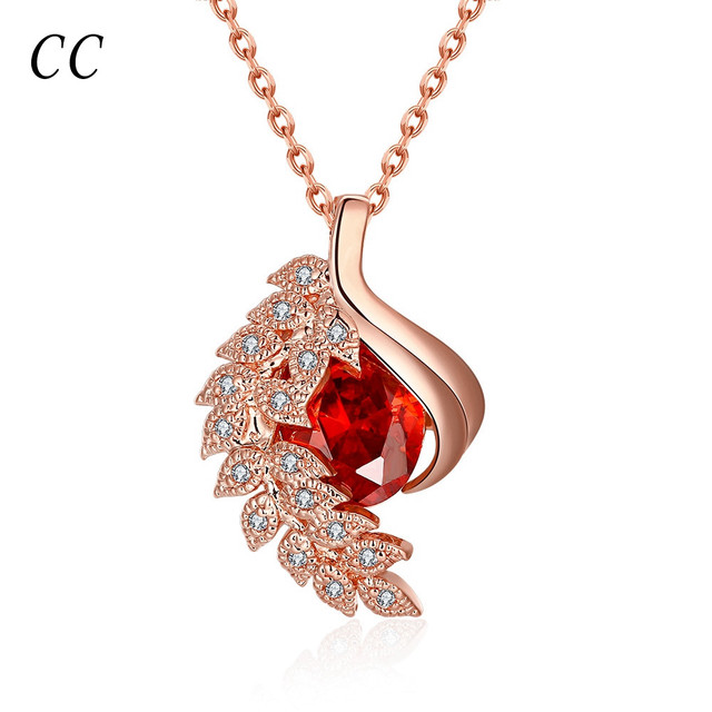Exquisite18k rose gold plated beautiful gift leafs pendants