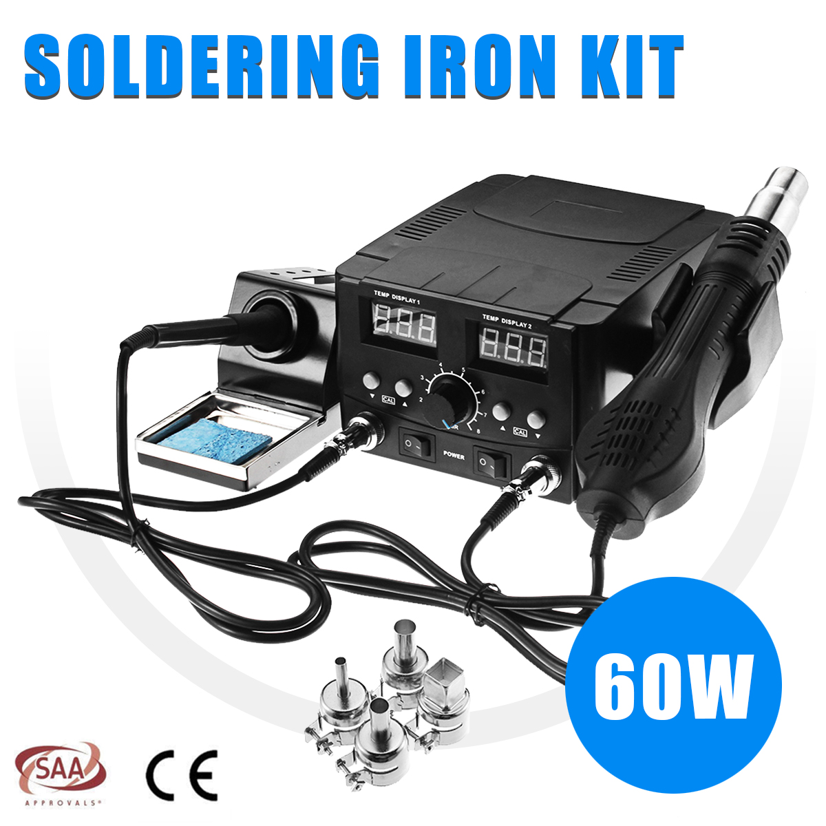 2 In1 Digital Hot Air Rework Soldering Station Soldering Iron Solder Rework Station SMD Desoldering Electric Welding Iron Tools h878a multifunction 110v hot air desoldering station with electric soldering iron and soldering iron stent for drying