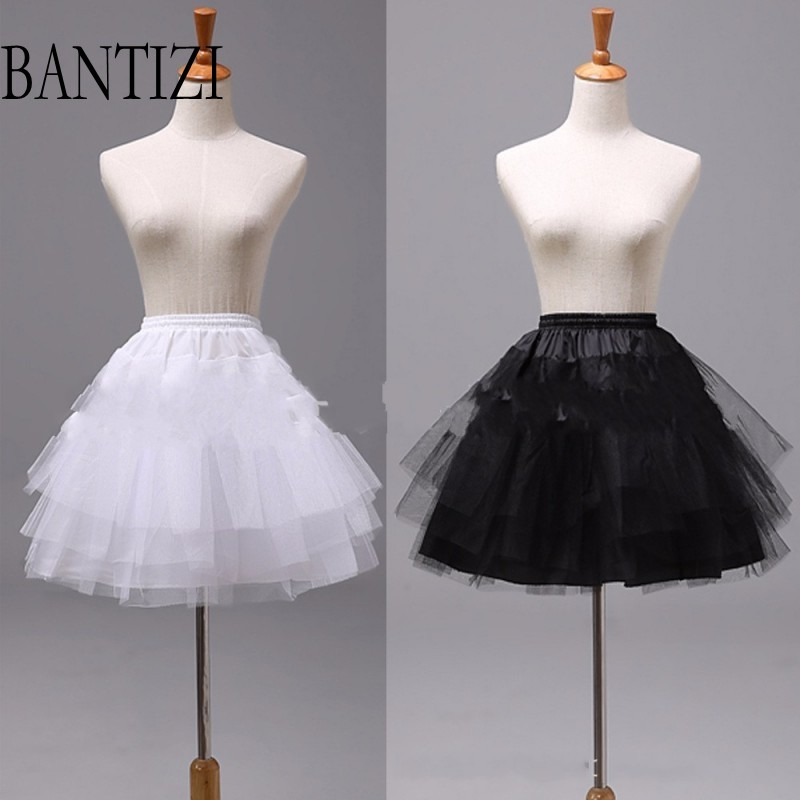 White or Black Short Petticoats 2017 Women Underskirt For Wedding Dress  jupon cerceau m ...
