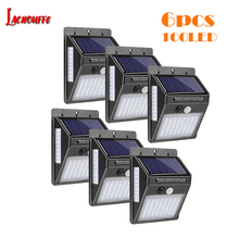 цена на 100 LED Solar Light Outdoor Solar Lamp PIR Motion Sensor Wall Light Waterproof Solar Powered Sunlight for Garden Decoration
