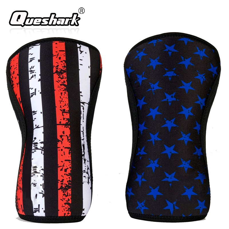92b1290b49 7mm Neoprene Knee Sleeves Crossfit Squat Weight Lifting Powerlifting  Fitness Basketball Knee Pads Compression Knee Support Brace