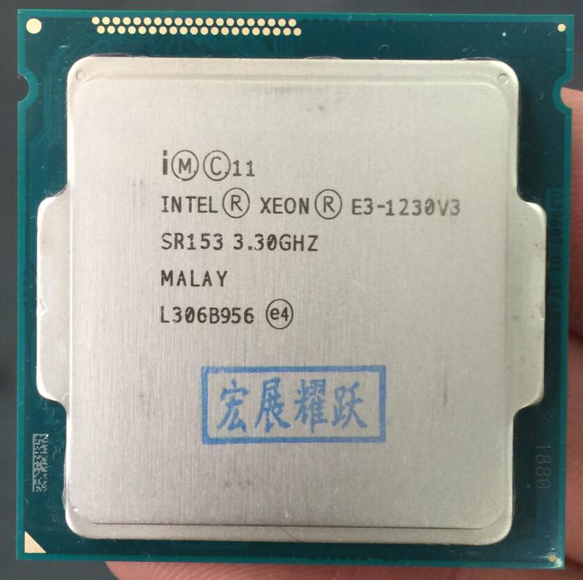 Processeur intel xeon E3-1230 V3 E3 1230 V3 Quad-Core Processeur LGA1150 De Bureau CPU 100% fonctionne correctement De Bureau Procès