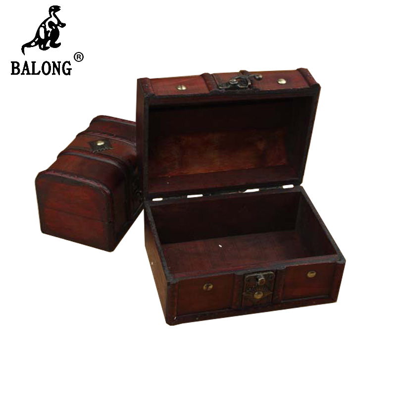 Two Pcs Antique wooden box Jewelry boxes Jewelry Container Necklace