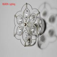 Regron Retro Ceiling Lights Creative American Classical Ceiling Lamp Art Deco Crystal Iron Bedside Lamp For Aisle Bedroom Lounge