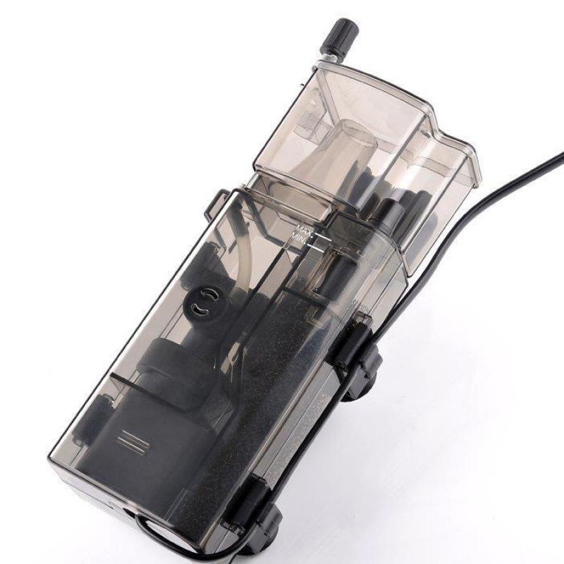 3.5 w Acrylique Mini Protéine Aquarium Skimmer sans Huile Pompe À Filtre Pour Fish Tank Entretien de L'eau 300l/h