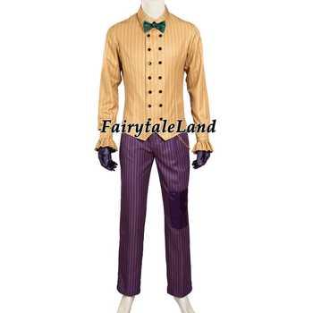 バットマン衣装大人のコスプレジョーカー衣装バットマンカスタムメイドバットマンarkham騎士ジョーカーコスプレ衣装男性ハロウィン衣装
