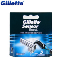 Original Gillette Sensor Excel Shaving Razor Blades For Men Shave Blade