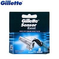 Original Gillette Sensor Excel Shaving Razor Blades For Men Shave Blade