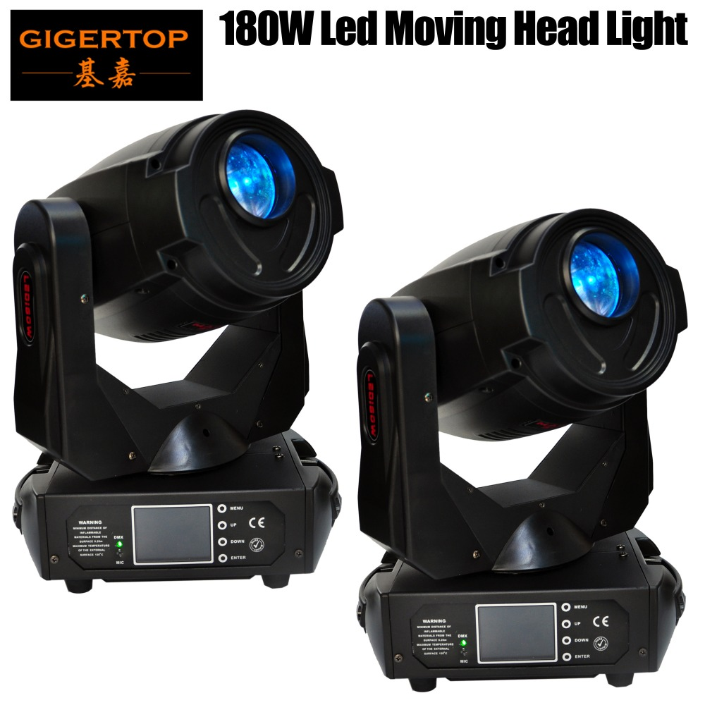 Factory Directly Sale 2 Pack 180W Led Moving Yoke Spot Led Stage Light 15 Degree Project Beam Angle LED Shutter Variable Speed