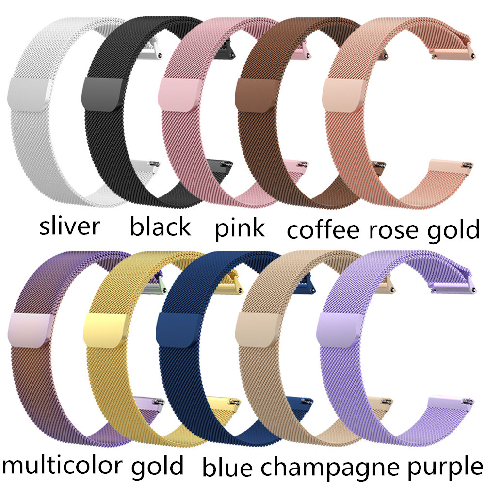 Replacment Strap Watch Band For Fitbit Versa / Versa 2 Band Magnetic Stainless Steel