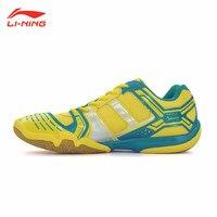 Li Ning Badminton Shoes Mens Breathable Sport Sneakers Li Ning Shock Absorption Athletic Man's Gym Shoe Lining AYTM085 L588OLA