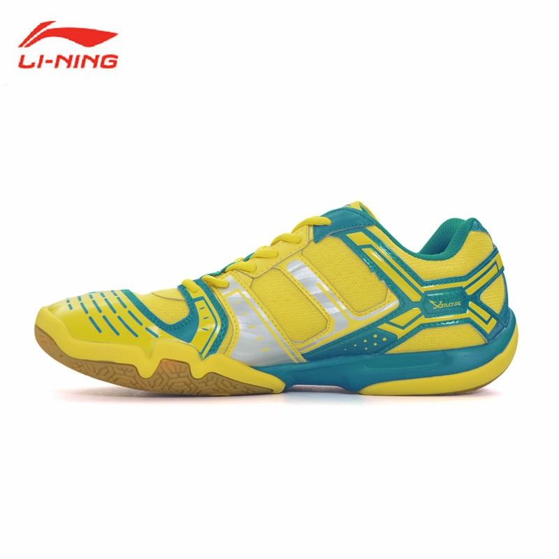 Chaussures de Badminton li-ning baskets de Sport respirantes pour hommes Li Ning Absorption des chocs doublure de chaussure de Sport pour hommes athlétiques AYTM085 L588OLA