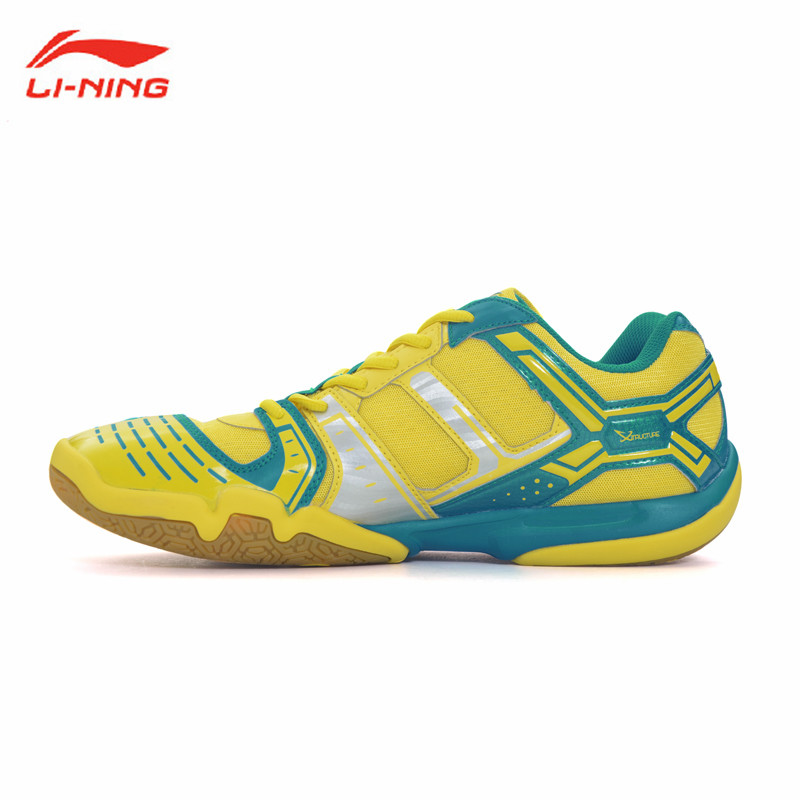 Li-Ning Saga Badminton Shoes Mens Breathable Sport Sneakers Li Ning Shock Absorption Athletic Man's Gym Shoe Lining AYTM085 L588