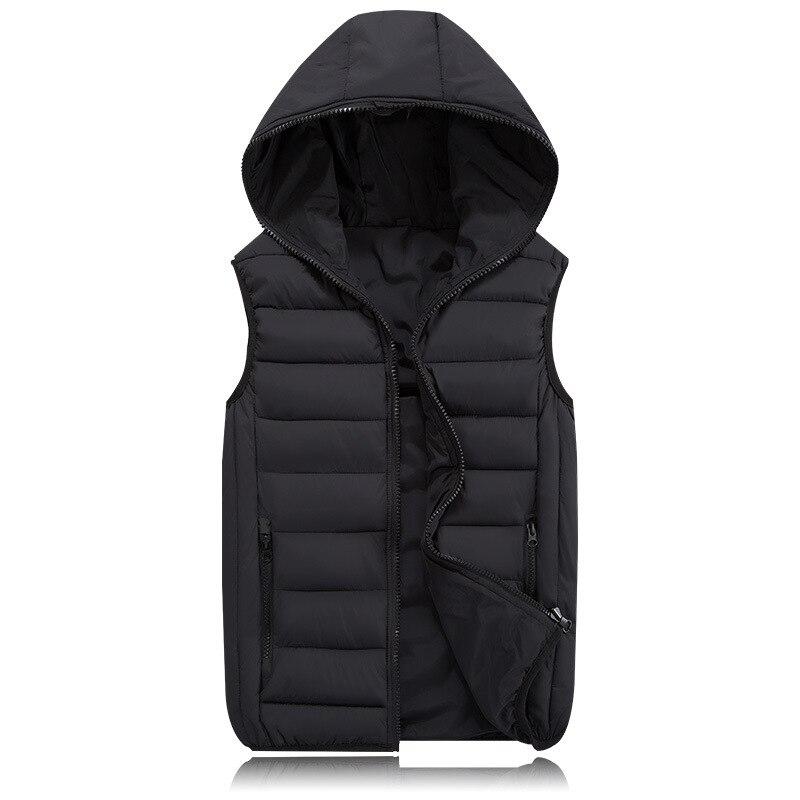 2018 neue Frühling Herbst Ärmelloses Jacke für Männer Mode Warme mit kapuze Mann Winter Weste Licht Plus Größe Männer Arbeiten Westen weste