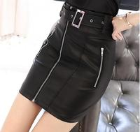 2019 Hot Sale Black Skirts Womens New Fashion High Quality Skirts Female Mini Leather Skirt S 3XL Work To Wear Clothes