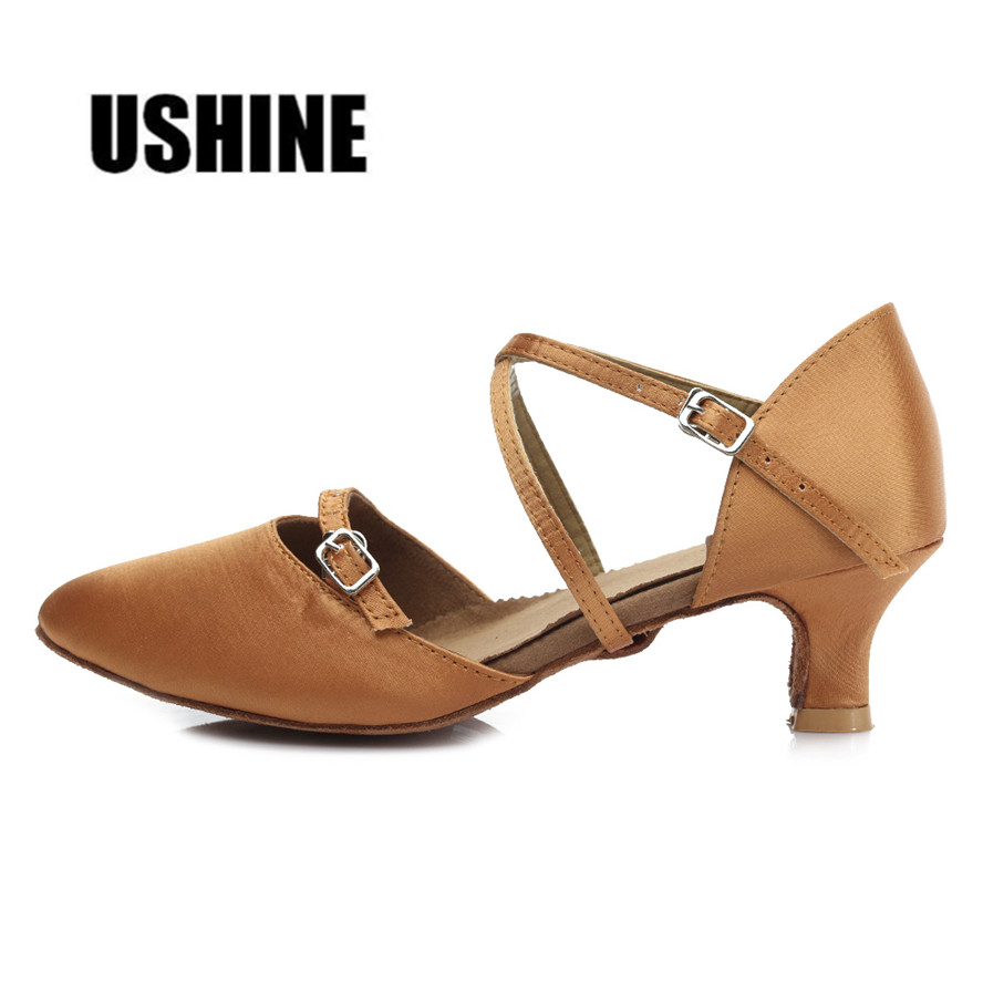TY-C10 Satin Brown Heel 7cm/5cm Salsa Dance Shoes Tango Latin Dance Shoes For WomenTY-C10 Satin Brown Heel 7cm/5cm Salsa Dance Shoes Tango Latin Dance Shoes For Women