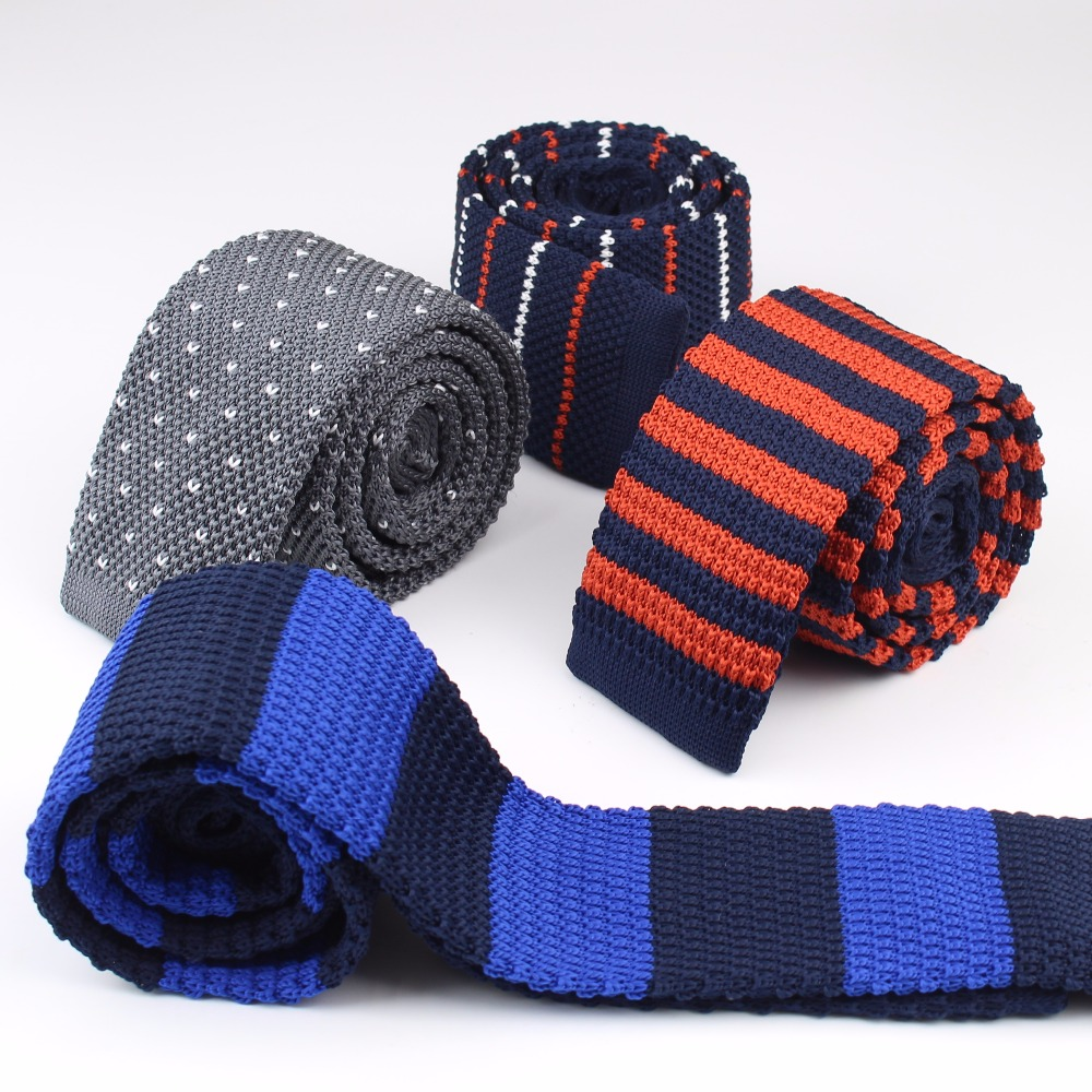 Mens British Style Knit Tie Skinny Knitted Necktie Narrow Slim Dot Gravatas Classical Ties Knitting Tape Yarn Designers