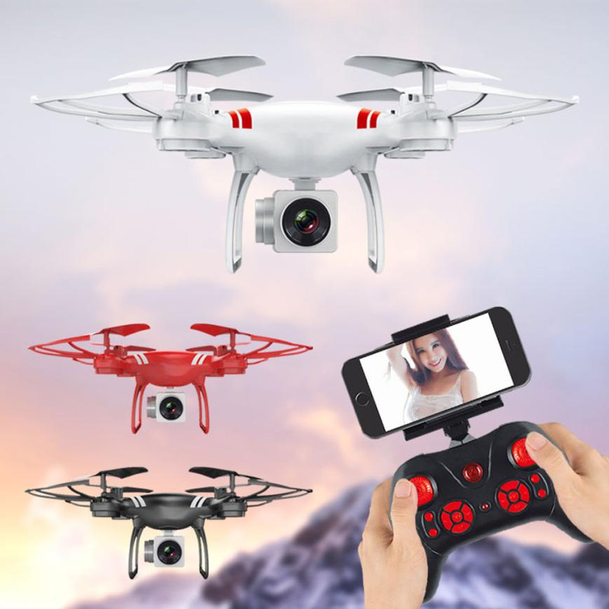 Wide Angle Lens RC Drone With Camera Quadrocopter Wifi FPV HD Real-time 2.4G 4CH RC Quad ...