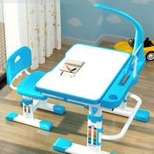 Los niños escritorio y silla conjunto con inclinación de escritorio luz LED y cajón para chico s funcional chico estudio MESA de escribir set de escritorio