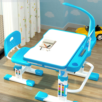 Delivery  normal Multifunctional Kid Study Children Homework Ergonomic Student Adjustable Desk And Chair Combination Desktop