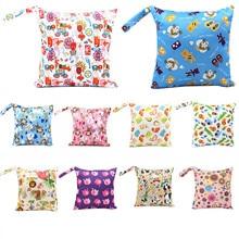 hot deal buy baby diaper bag reusable waterproof cartoon print dry diaper cloth handle wet bags baby care mother bag baby boy diaper bags
