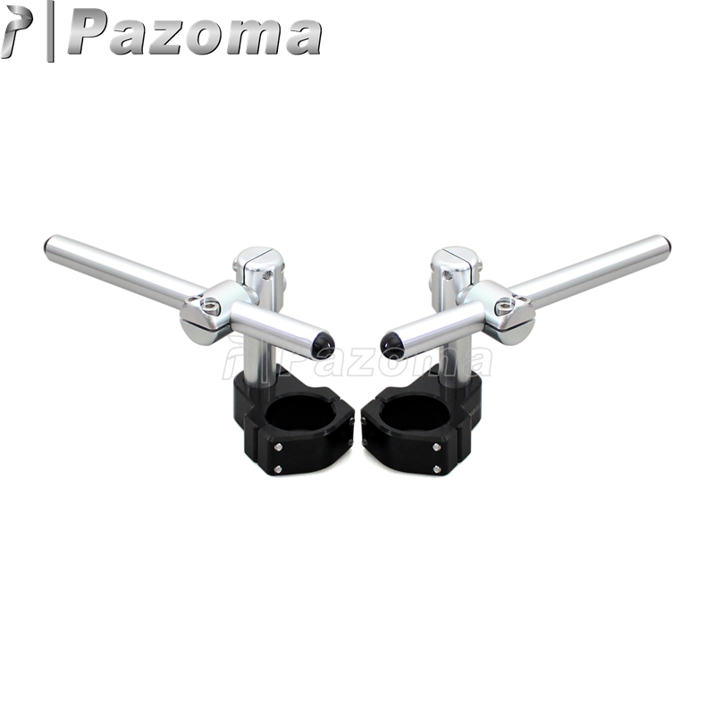 Aluminum 22mm Adjustable Clip On Handlebar Universal Handle Bars for 50mm Fork Motorcycle