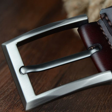 Pin Buckle Genuine Cow Leather Belt For Men