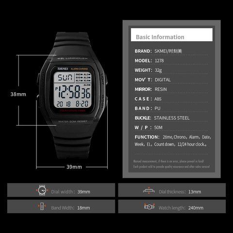SKMEI Fashion Men Watches Sports Digital Watch Waterproof Alarm Man Wrist Electronic Clock Men Relogio Masculino Multan