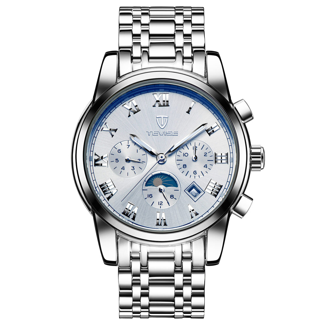 Luxury gold watch three eyes analog quartz wristwatch men business watch large men clock 2018 new luxury white relogio masculino одежда для сна gold three pagodas
