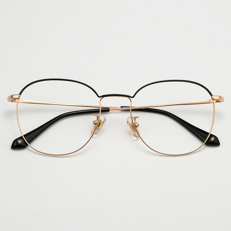 64f84c64611 QianJin Pure Titanium Spectacle Frame Women Vintage Eyeglasses Men Computer Optical  Retro Eye Glasses For Female Male Clear Lens-in Eyewear Frames from ...