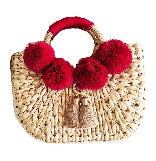 Caker 2018 Для женщин соломенная сумочка контраст Цвет кисточкой большие сумка Вышивка письмо пляжный отдых путешествия Сумки на плечо