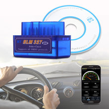 Hot Selling Mini ELM327 Auto Scanner Bluetooth OBD2 For Android Torque OBDII Car V2.1 Vehicle Scan Diagnostic Tool