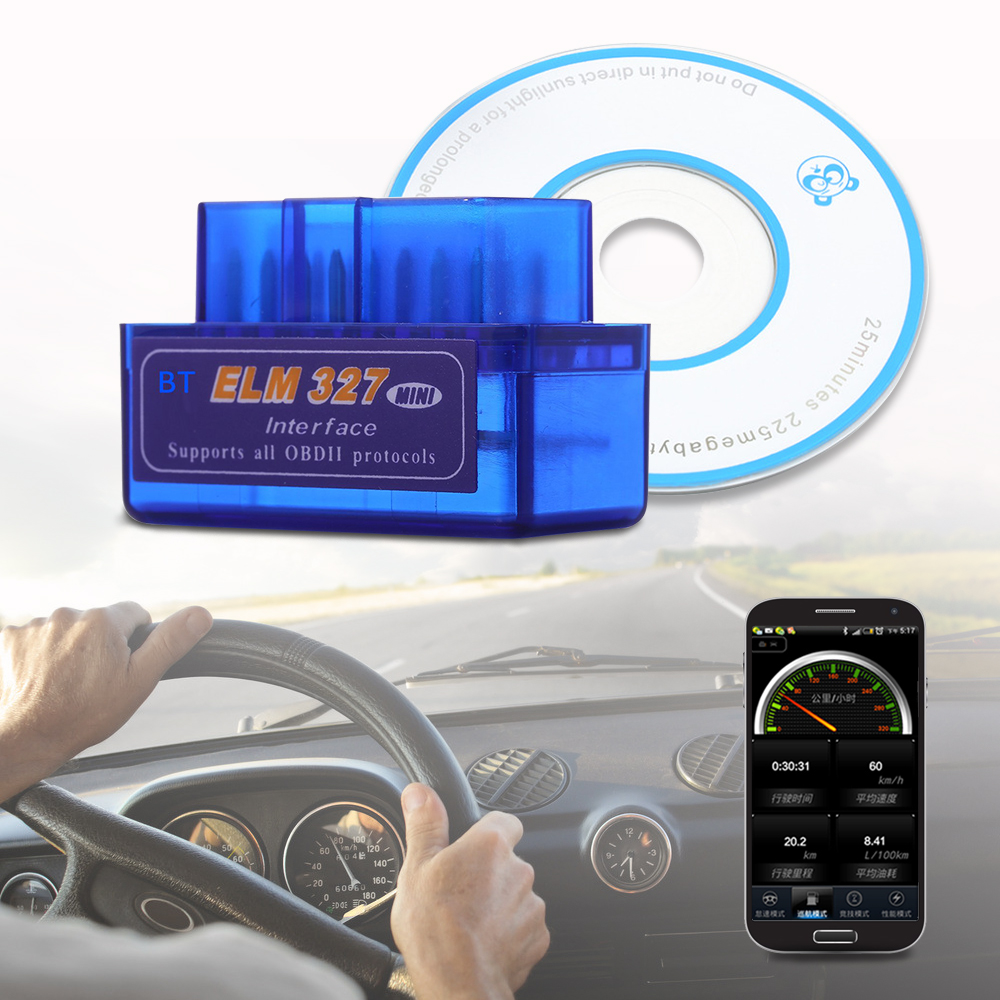 mini auto scanner bluetooth obd2 for android torque obdii elm327 code readers diagnostic tool. Black Bedroom Furniture Sets. Home Design Ideas