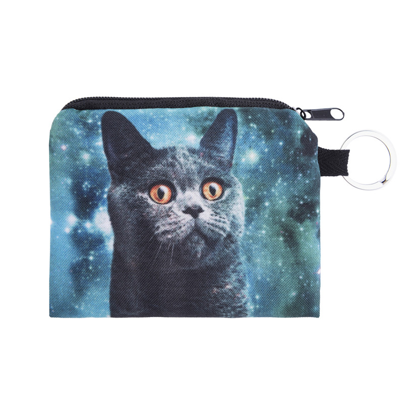Cats design New Women Coin Purses Cute Girl Mini Bag Key Ring Case Zipper Wallet Lovely Pouch Change Purse wholesaleCP4056 fashion women coin purses dots design mini girl wallet triple zipper clutch bag card case small lady bags phone pouch purse new