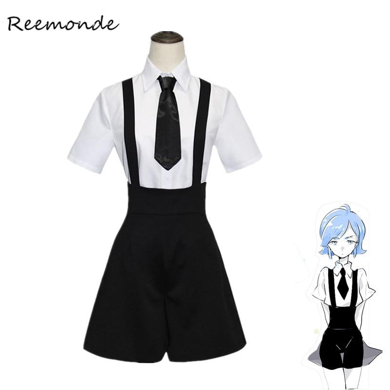 Anime Hoseki No Kuni Cosplay Costume Phosphophyllite Cinnabar Bort Diamond Cosplay For Women Girls Summer Sailor Uniform Costume