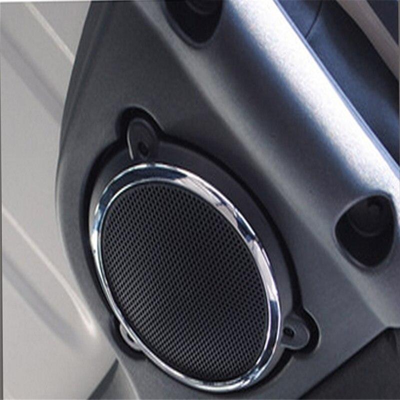 LLHAI Compatibile con Interni modanature Jeep Wrangler JL 2018 del Tetto dellautomobile Altoparlante Anello Decorativo Sticker per Jeep Wrangler JL Accessori