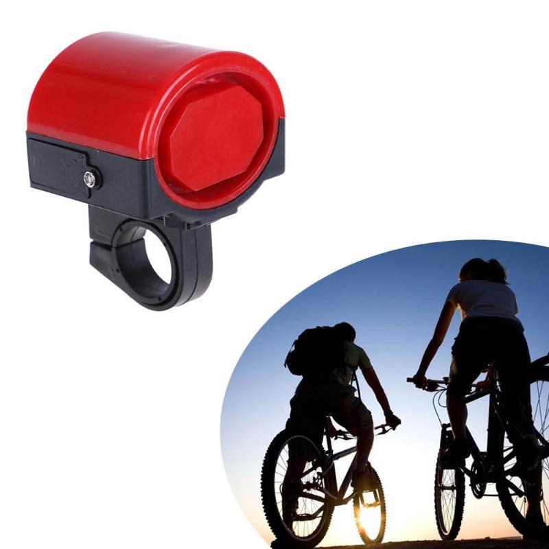 Mini Electronic Bicycle Horn Electrical Bike Bell Cycling Handlebar Ultra Loud Alarm Ring Battery Powered 360 Degree Rotating